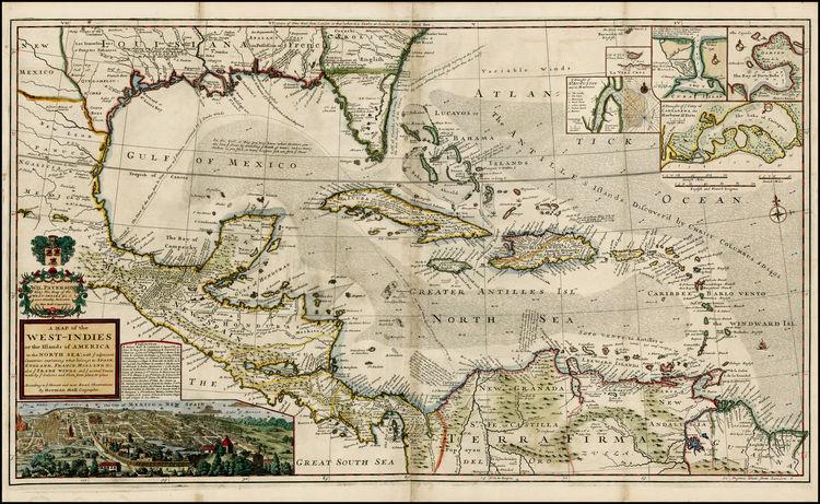 Caribbean sail route