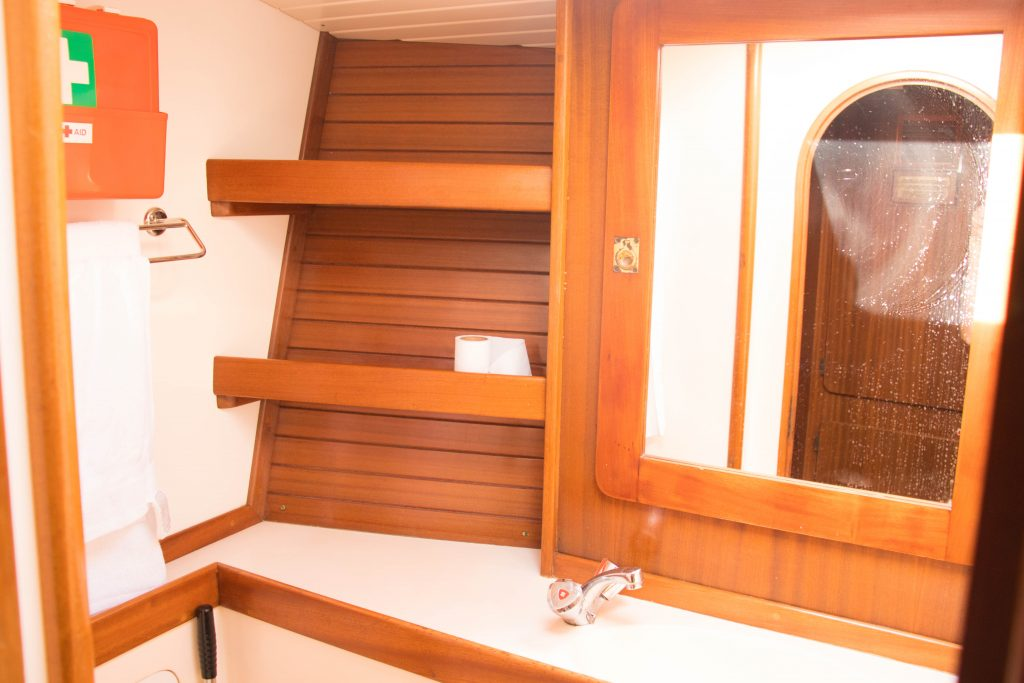 bathroom in a sailboat