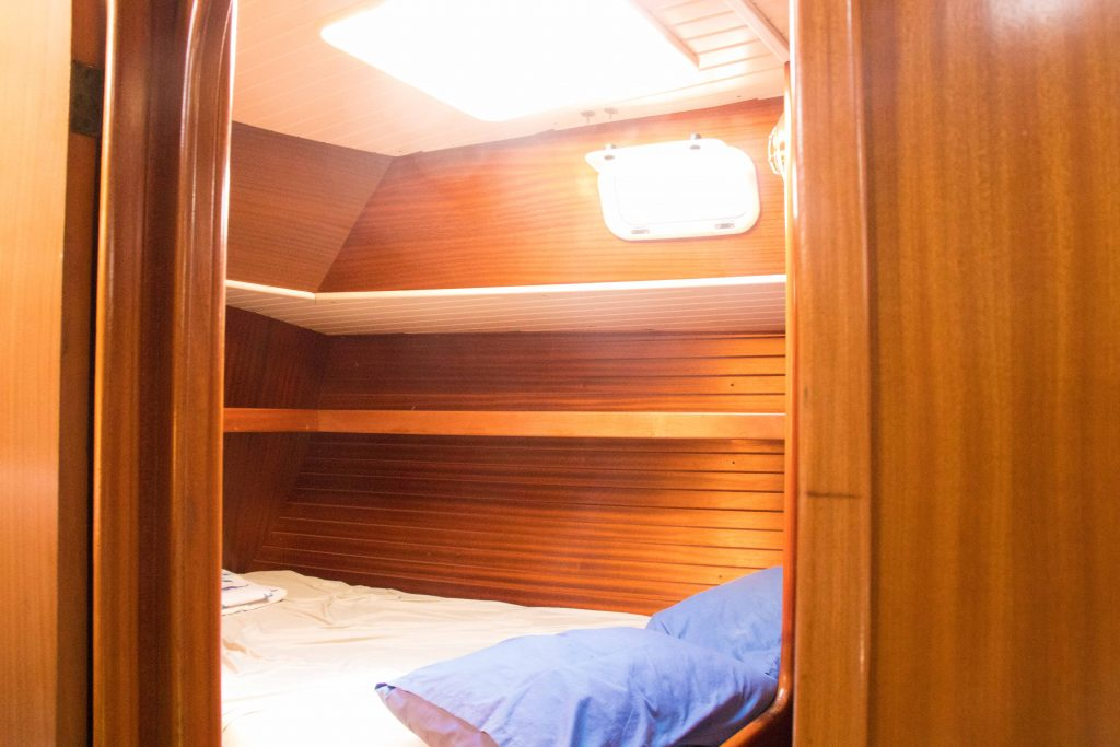 master suite in sailboat