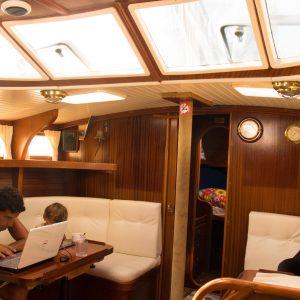 veleiro por dentro