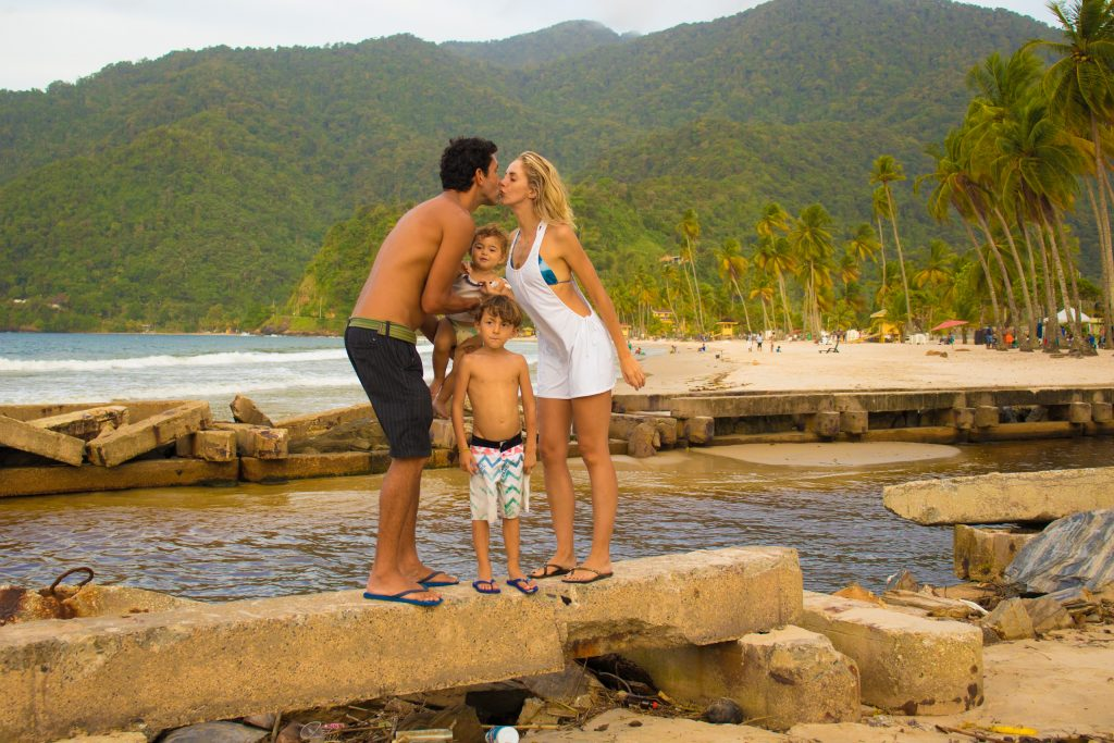 maracas bay and family
